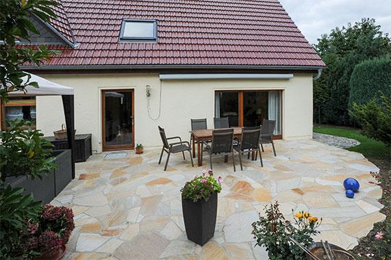 Terrasse Quarzitplatten